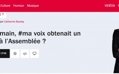 France Inter :  Et si demain, #ma voix obtenait un #siège à l'Assemblée ?